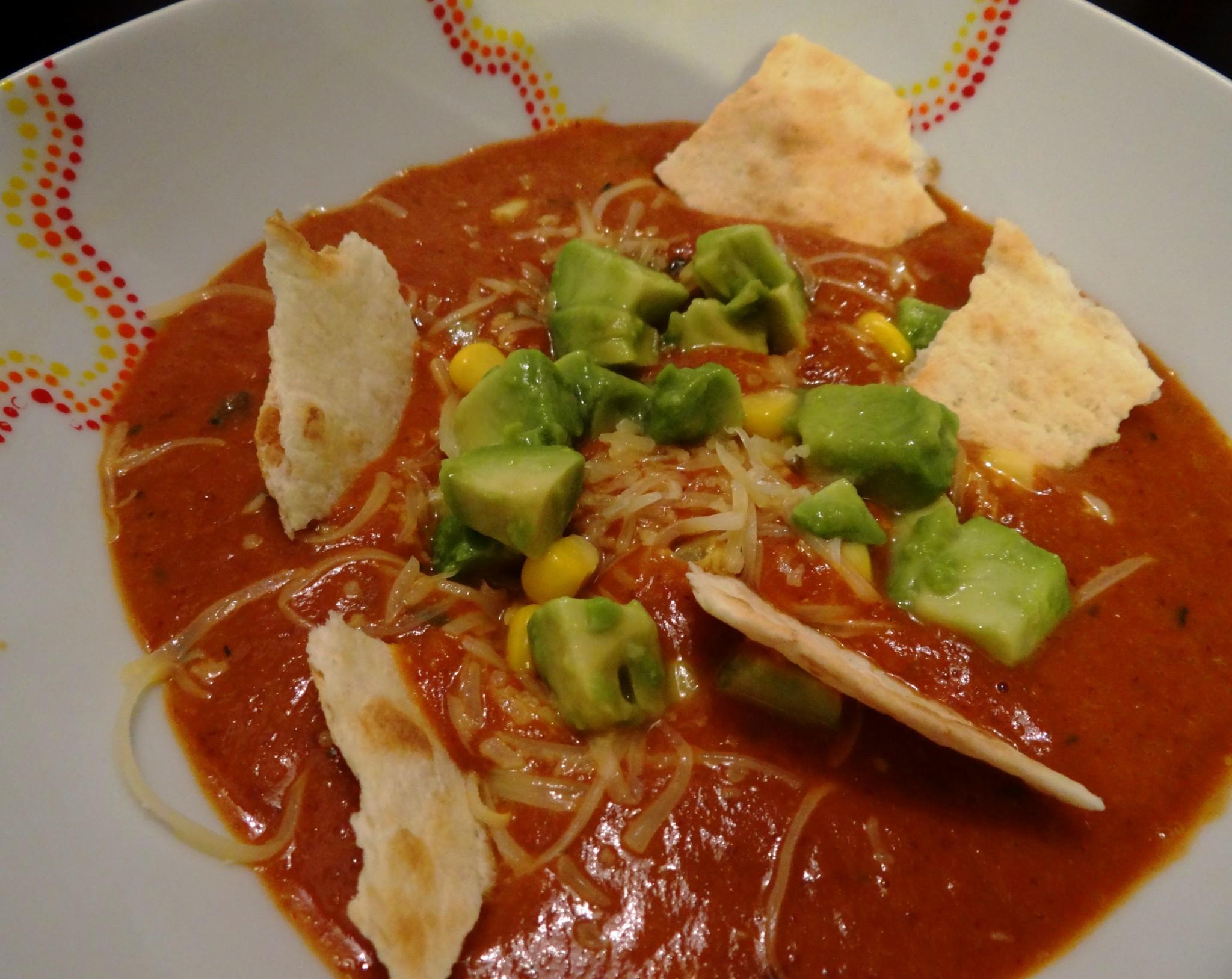 """Fleanette's Kitchen - La """"Tortilla soup"""", une soupe d'inspiration... américaine!"""