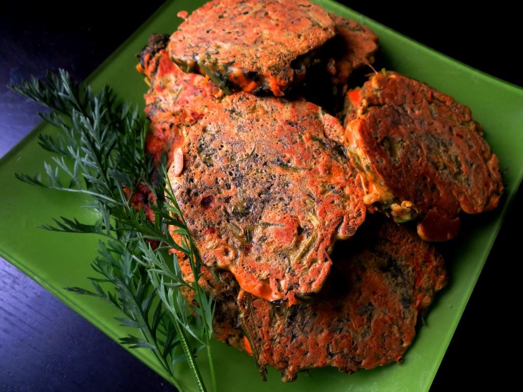 Pancakes aux carottes fanes - Fleanette's Kitchen