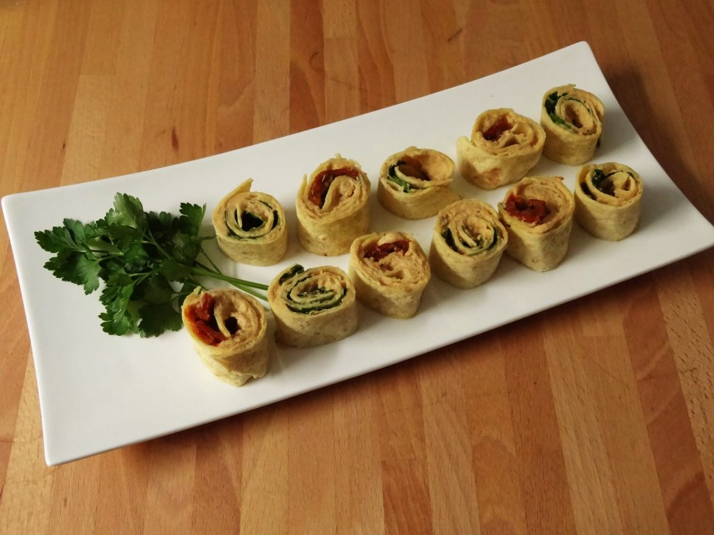 Wrap houmous et tomates séchées - Fleanette's Kitchen